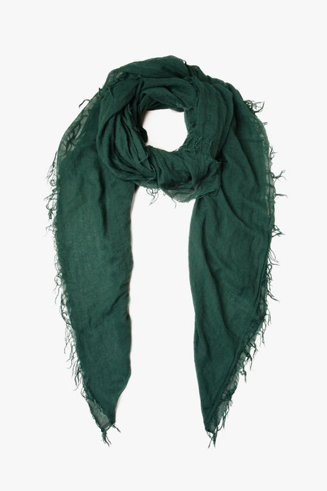 Trekking Green Cashmere and Silk Scarf