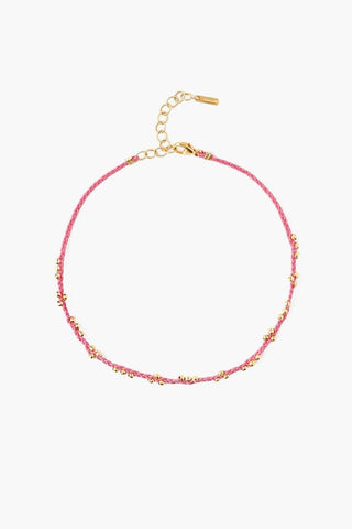 Deep Lake Beaded Anklet