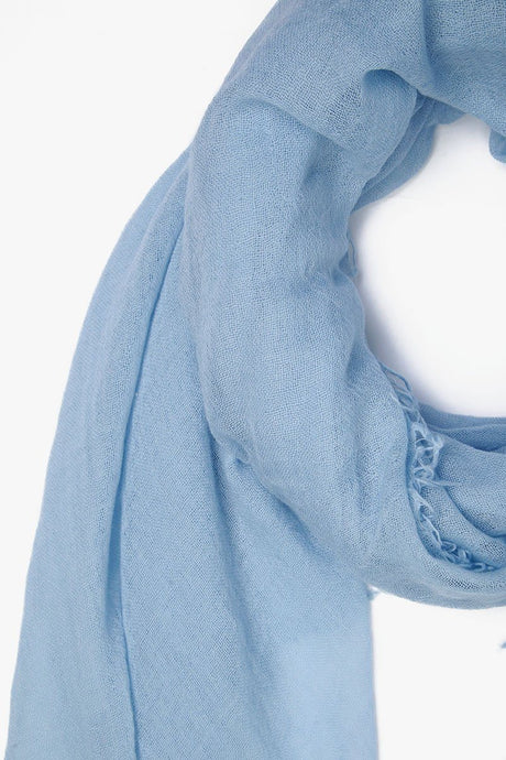 Simply Blue Cashmere and Silk Scarf