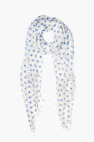 Moonlight Gingham Cashmere and Silk Scarf