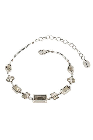 White Mix Layered Horn Charm Bracelet