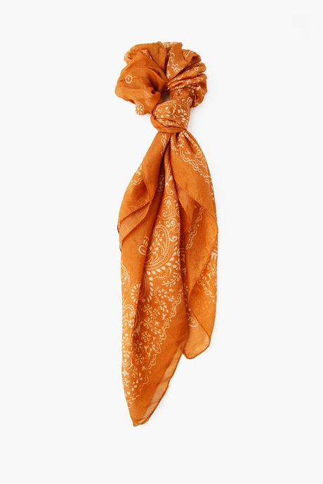 Wheat 2-in-1 Scrunchie With Bandana