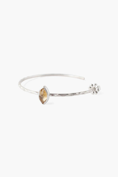 Citrine Evil Eye Hoop Earrings