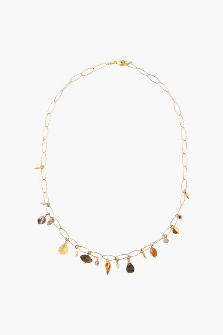 Citrine Mix Charm Short Necklace