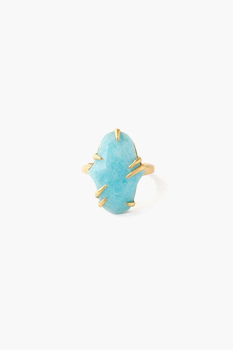 Pronged Amazonite Ring