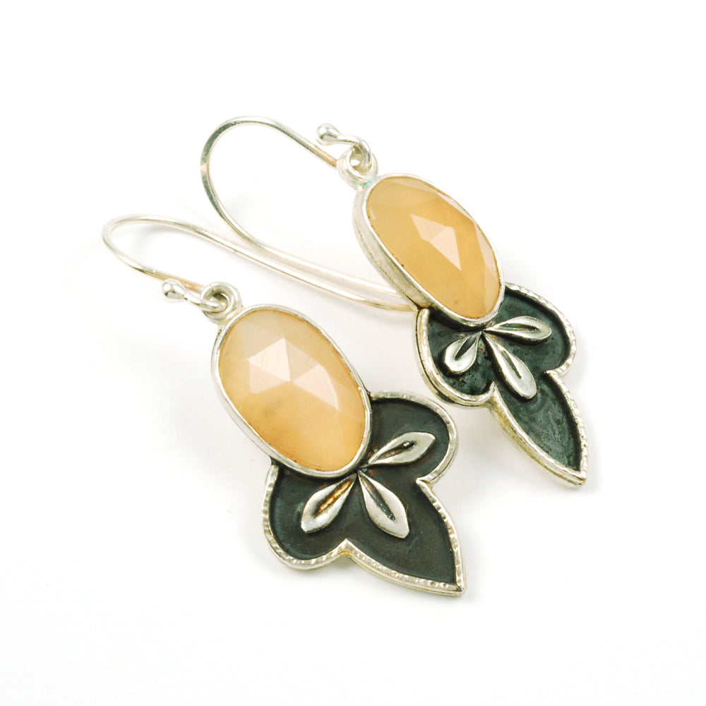 Moon Leaf Earrings