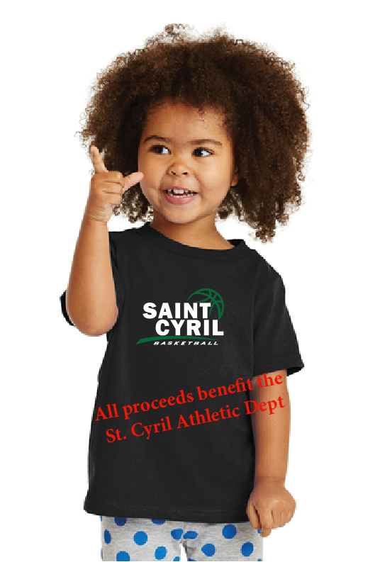 St. Cyril Basketball Fan Shirt - Toddler, Youth, & Adult