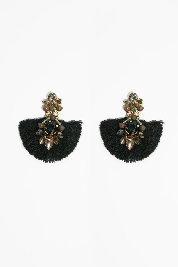 Jewel Tassel Earring, Accessories - Repertoire NZ, New Zealand Fashion, Womenswear, Womens Clothing