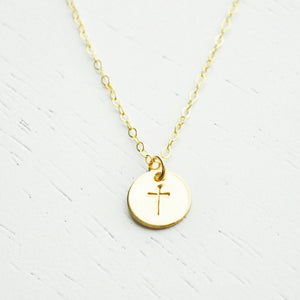 Gold Cross Necklace