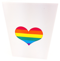 Valentines Rainbow Heart Greeting Card | congratulations, same sex, engagement, wedding, women, gay, rans, bi, lesbian, romance, love