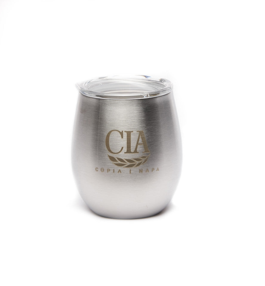 CIA Double Wall Stainless Steel Wine Glass 8 oz.