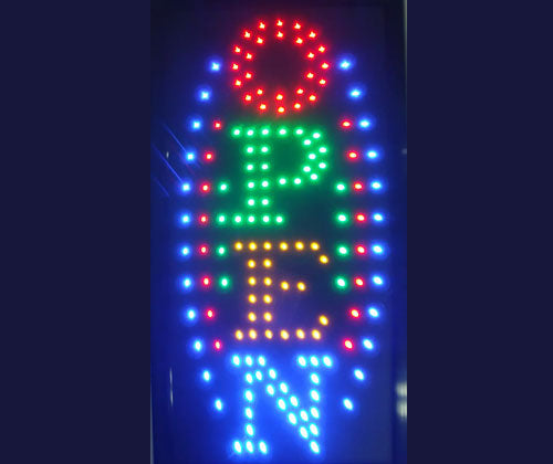 Multi color verticle LED sign