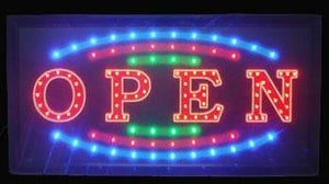Multi-color Open LED Sign