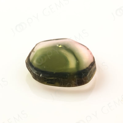 Joopy Gems Watermelon Tourmaline slice, 2.595 carats, 11.1x10.3x2.5mm, SLFRTOU30