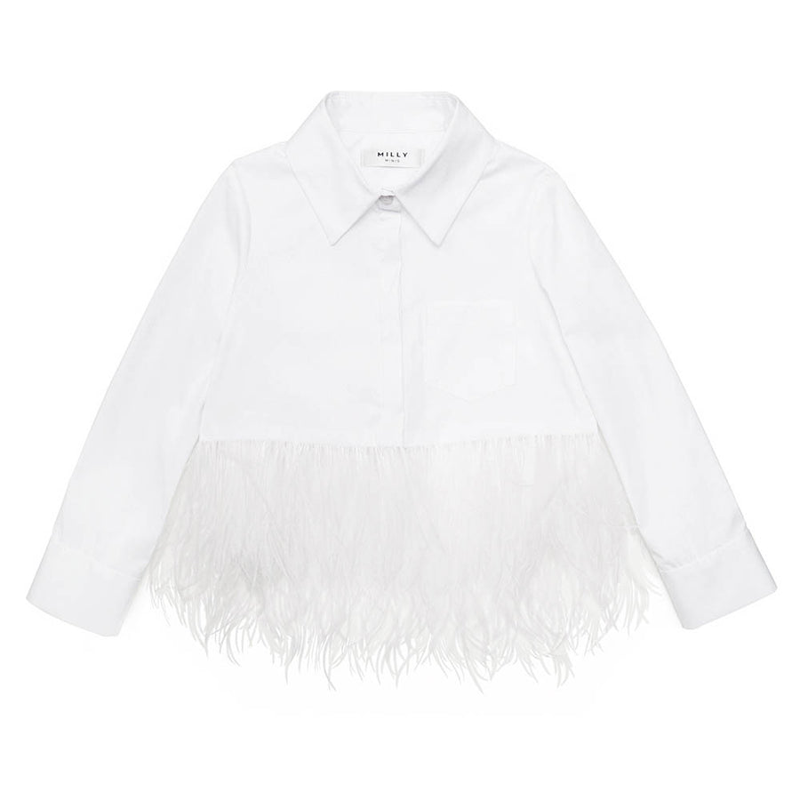 Blusa Feathered Botton Up