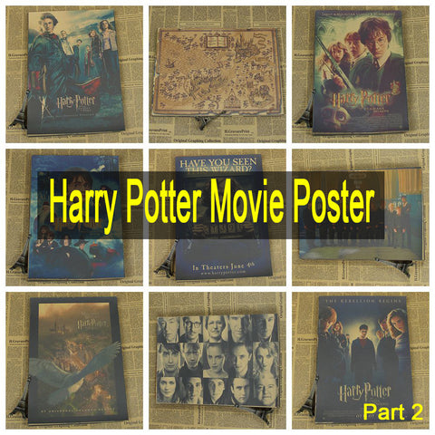 Vintage Harry Potter magic posters