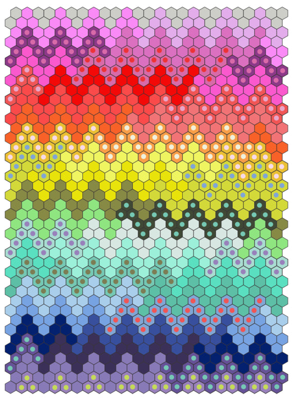 Hex On The Beach Quilt Kit