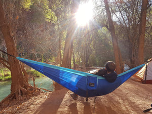 Blue/Light Blue Camping Hammock
