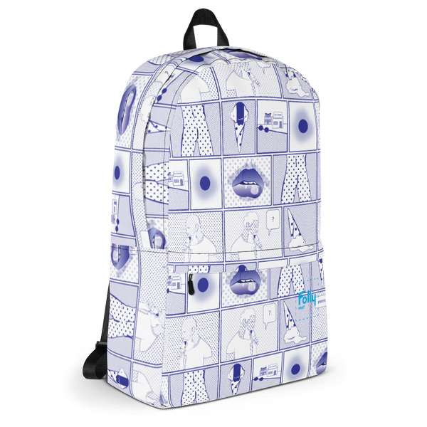 Sunday Ice Cream Backpack - White/Blue