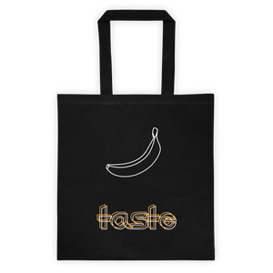 Taste Banana Tote Bag: Black