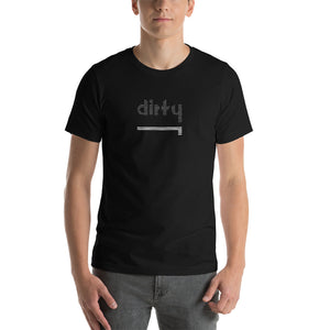 Dirty Short-Sleeve T-Shirt: Black