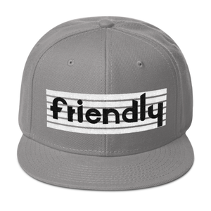 Friendly Snapback Hat: Lt Grey