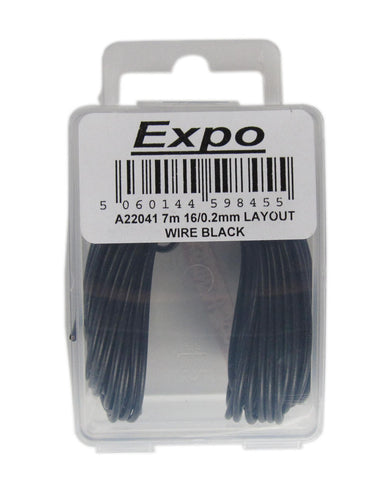 7m Pack Of 16/0.2mm Cable black