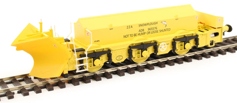 Beilhack snow plough (ex Class 40) ZZA ADB965576 in BR yellow