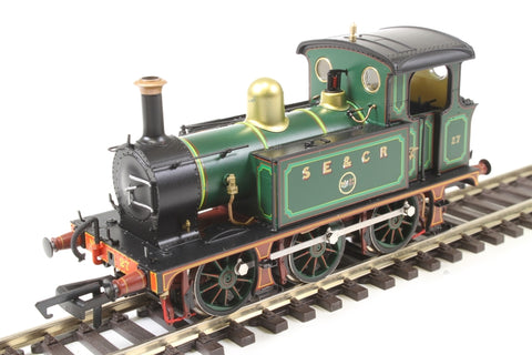 SECR P Class 0-6-0T 27 in SE&CR full lined green (with polished brass)