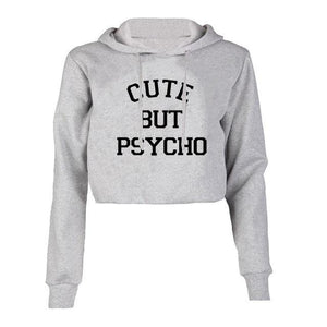 Casual Women Hoodie Long Sleeves ''CUTE BUT PSYCHO'' - Zamavi.com