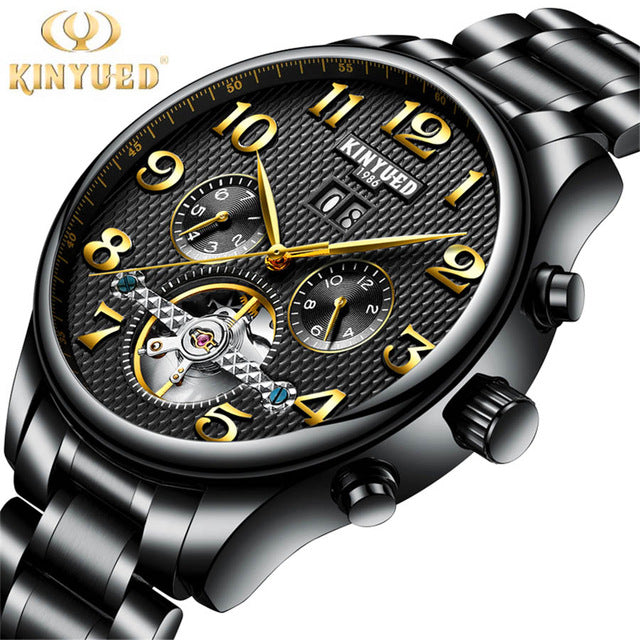 Top Brand Luxury Fashion Automatic Mechanical Watch Men Stainless steel Waterproof Calendar Sport Wrist Watch Relojes Hombre - Zamavi.com