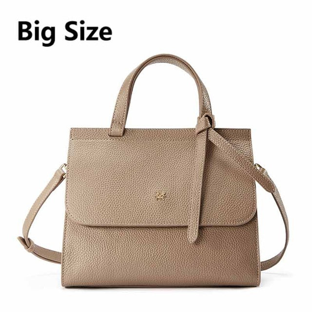EMINI HOUSE Bow Tie Handbag Genuine Leather Flap Bag Women Messenger Bags Luxury Handbags Women Bags Designer Shoulder Bag - Zamavi.com