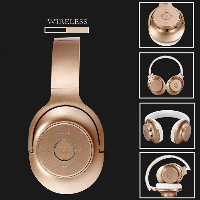 Luxury 2.0 Wireless Headset Bluetooth Hifi Bass Headphone Built-in Mic Suppurt FM Function TF Card Universal For Mobile Phone - Zamavi.com
