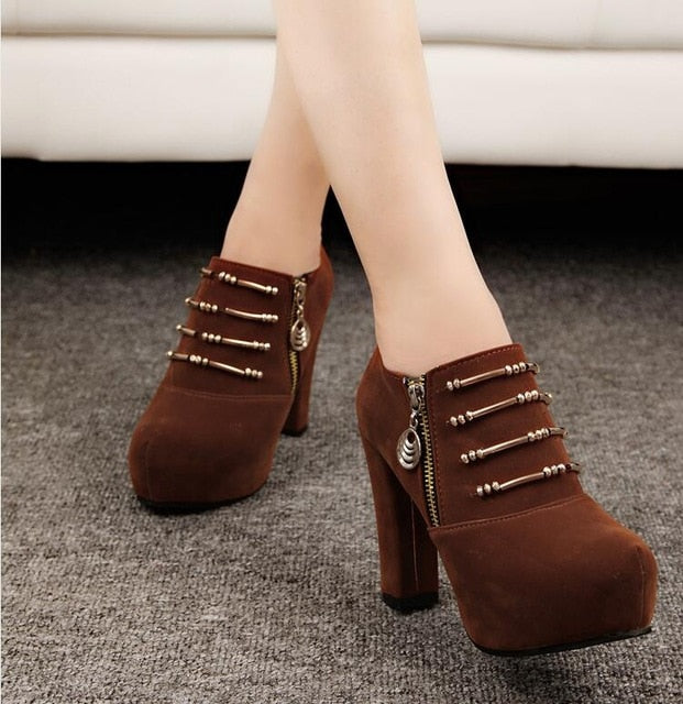 2019 new 10.5cm high heels women pumps casual women shoes high heel ankle boots women boots summer shoes women pumps botas A067 - Zamavi.com