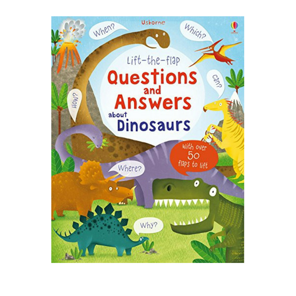 Usborne Q and A Flap Book about Dinosaurs