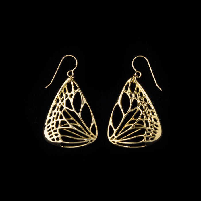 Large Butterfly Earrings in Metals