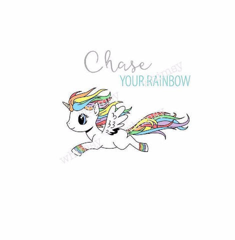 340 Chase Your Rainbow Unicorn Child Panel