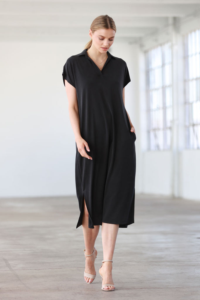 Y Collar Easy Dress