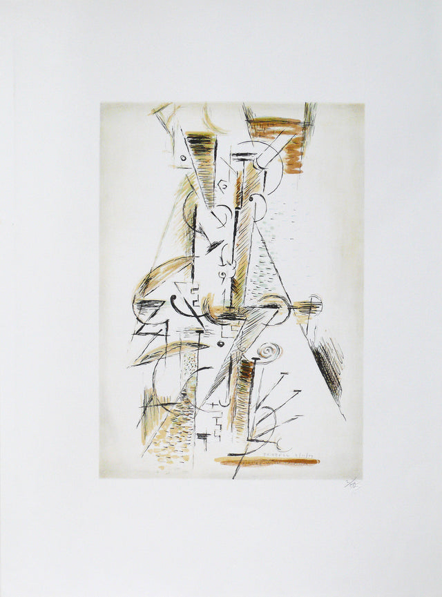 Frizzell_1997_Figure with Taiaha_lithograph_760 x 560mm_aFRI108-97