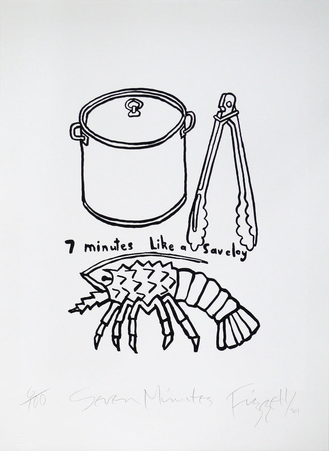 Dick Frizzell, Seven Minutes, 2011, edition of 100, screenprint on paper, 765 x 560mm