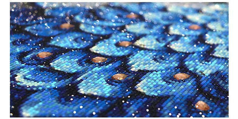 Royal Blue Peacock (Premium)-Special Diamond Painting Kit-Heartful Diamonds