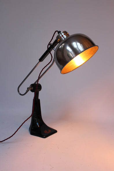 Vintage Industrial 1930 Duo Ray Heat Lamp converted to Desk Lamp