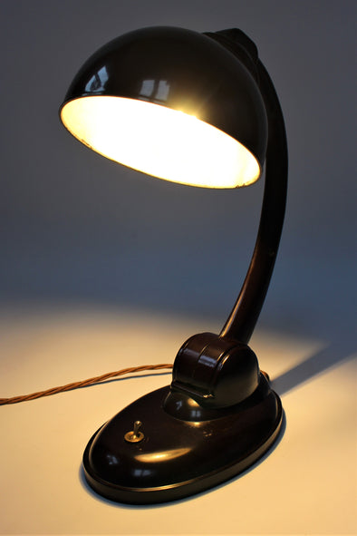 1930s Vintage Bakelite Desk Lamp designed by Eric Kirkman Cole