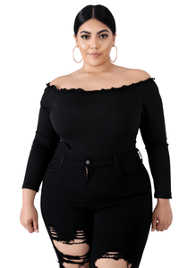 plus size Blouse & Shirt Claudia Scallop Bodysuit