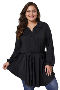 plus size Blouse & Shirt XL / AUS 14 - 16 / Black Erica Shirt