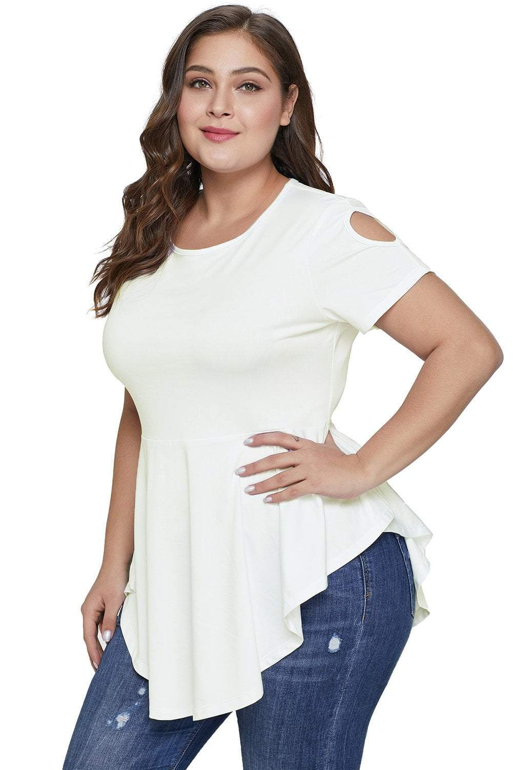 plus size T-Shirt XL / AUS 14 - 16 / White Carrie Tee