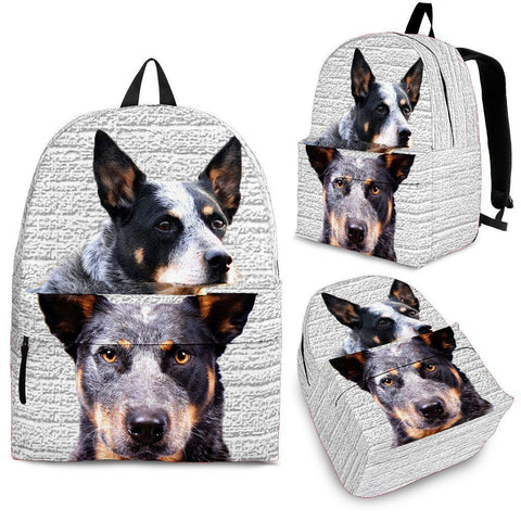 Australian Cattle Dog Print Backpack-Express Shipping