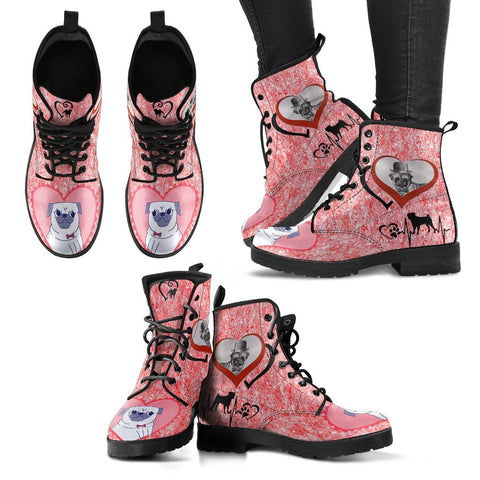 Valentine's Day Special-Pug Dog Print Boots For Women-Free Shipping