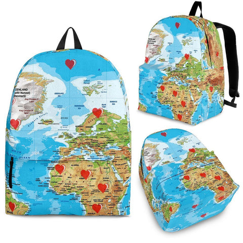 Limited Edition World Map Print Backpack-Free Shipping
