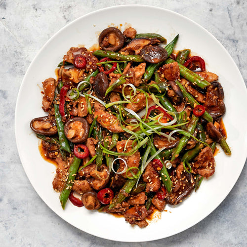 Antibiotic Free Chicken Breast Strips - Chicken Stir Fry  With Shiitake and Green Beans